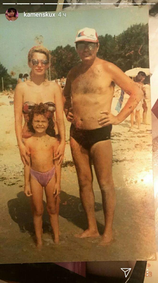 Каменських у дитинстві з батьками