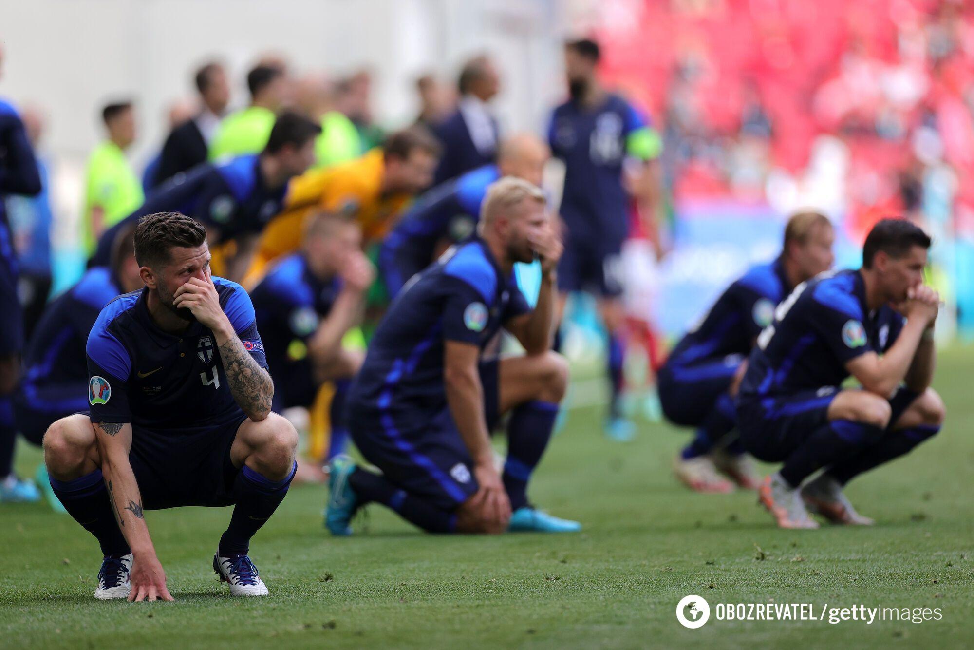 Футболисты не смогли сдержать эмоций