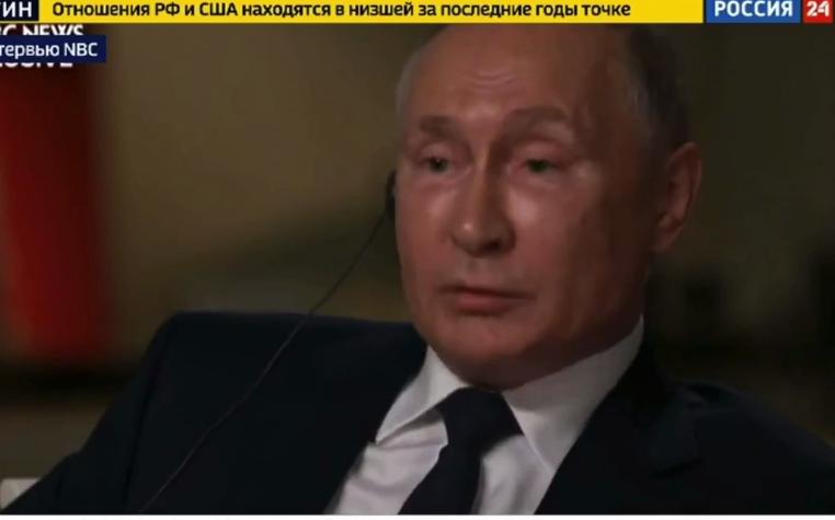 Путин на интервью.