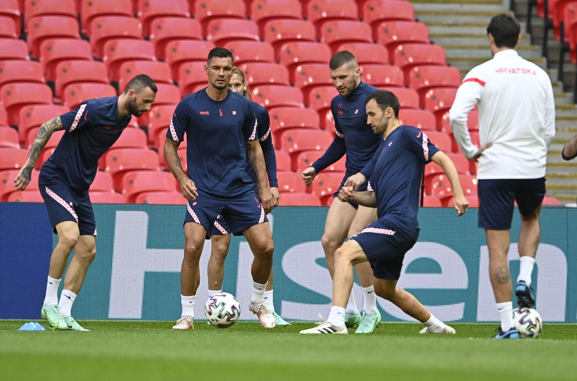 Хорвати провели останнє тренування перед грою з англійцями.