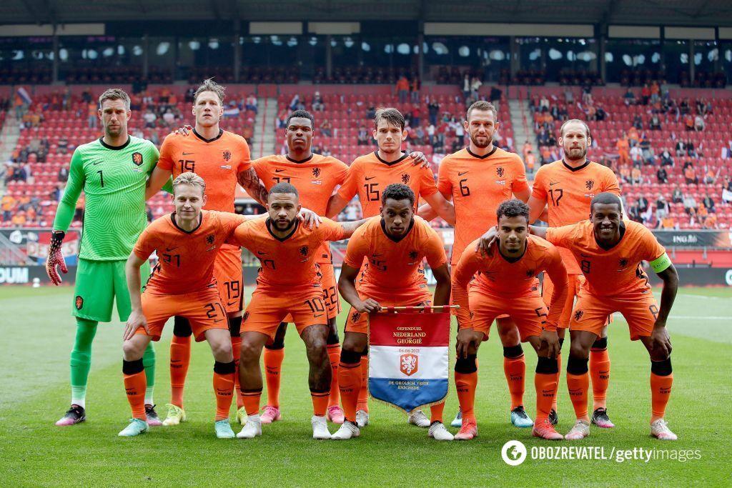 Сборная Нидерландов – 14-я в рейтинге ФИФА