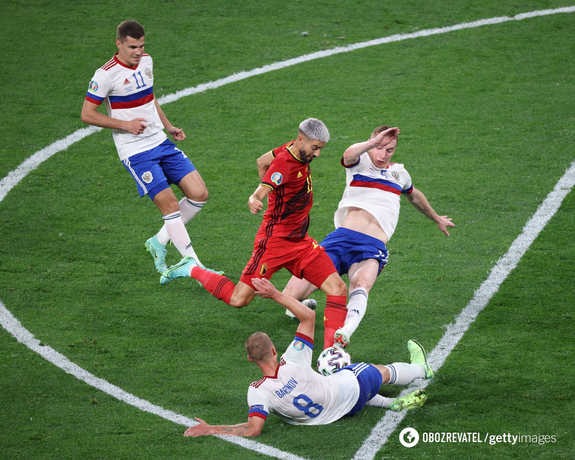 Россияне уступили бельгийцам