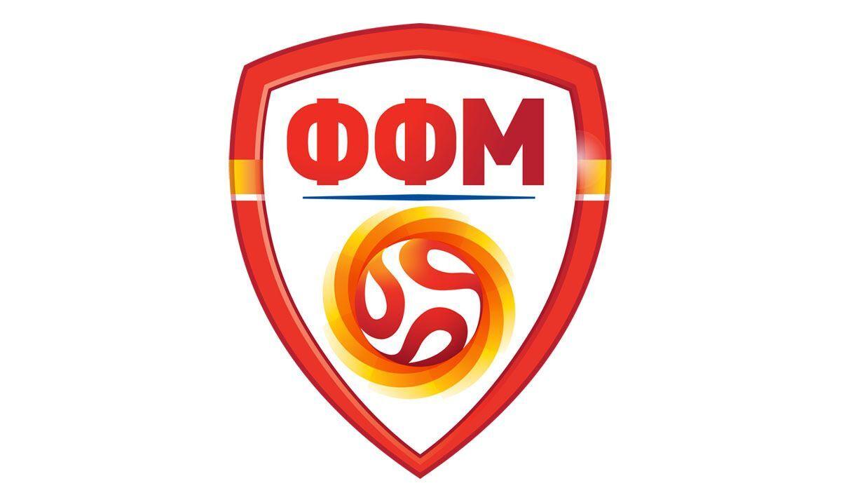 Герб Федерации футбола Македонии.