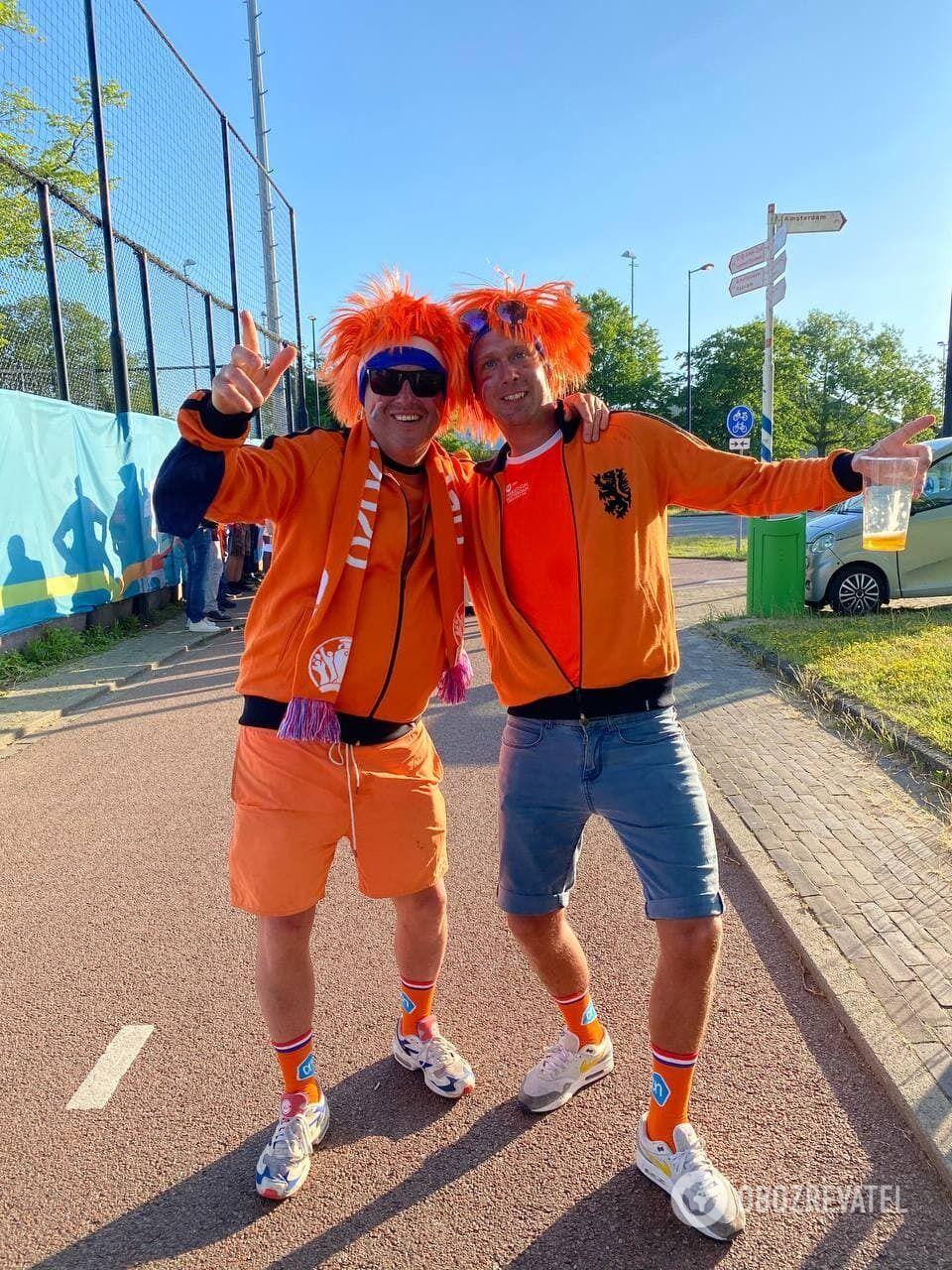 Фанаты Нидерландов.