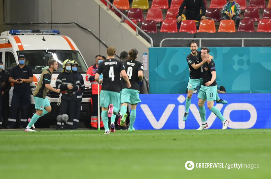 Австрия сумела дожать македонцев в концовке матча