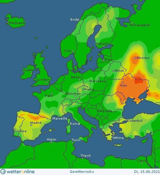Карта погоди в Україні 15 червня