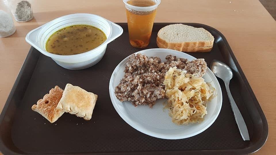 Обед на Гончаровском полигоне