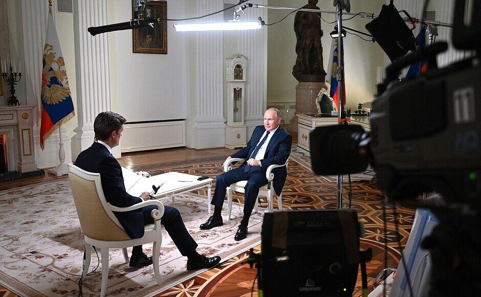 Журналист NBC и глава РФ