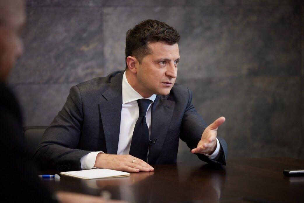 Зеленский на интервью