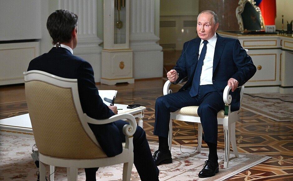 Владимир Путин на интервью