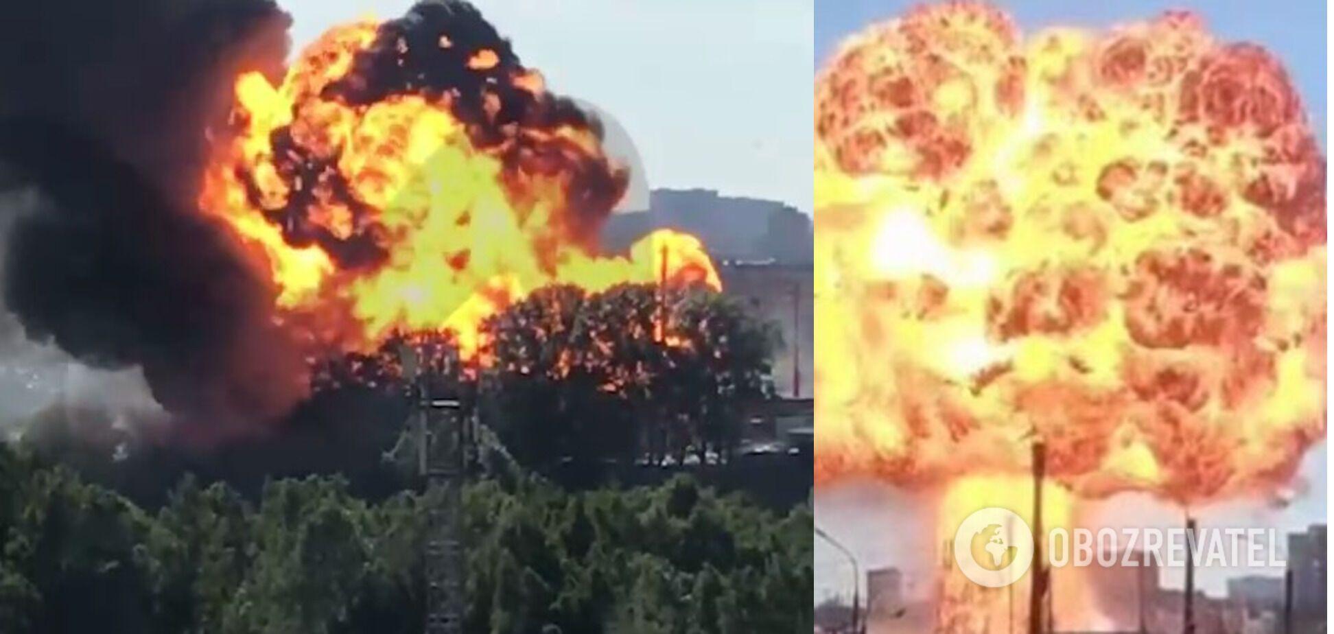 Взрыв на автозаправочной станции в Новосибирске