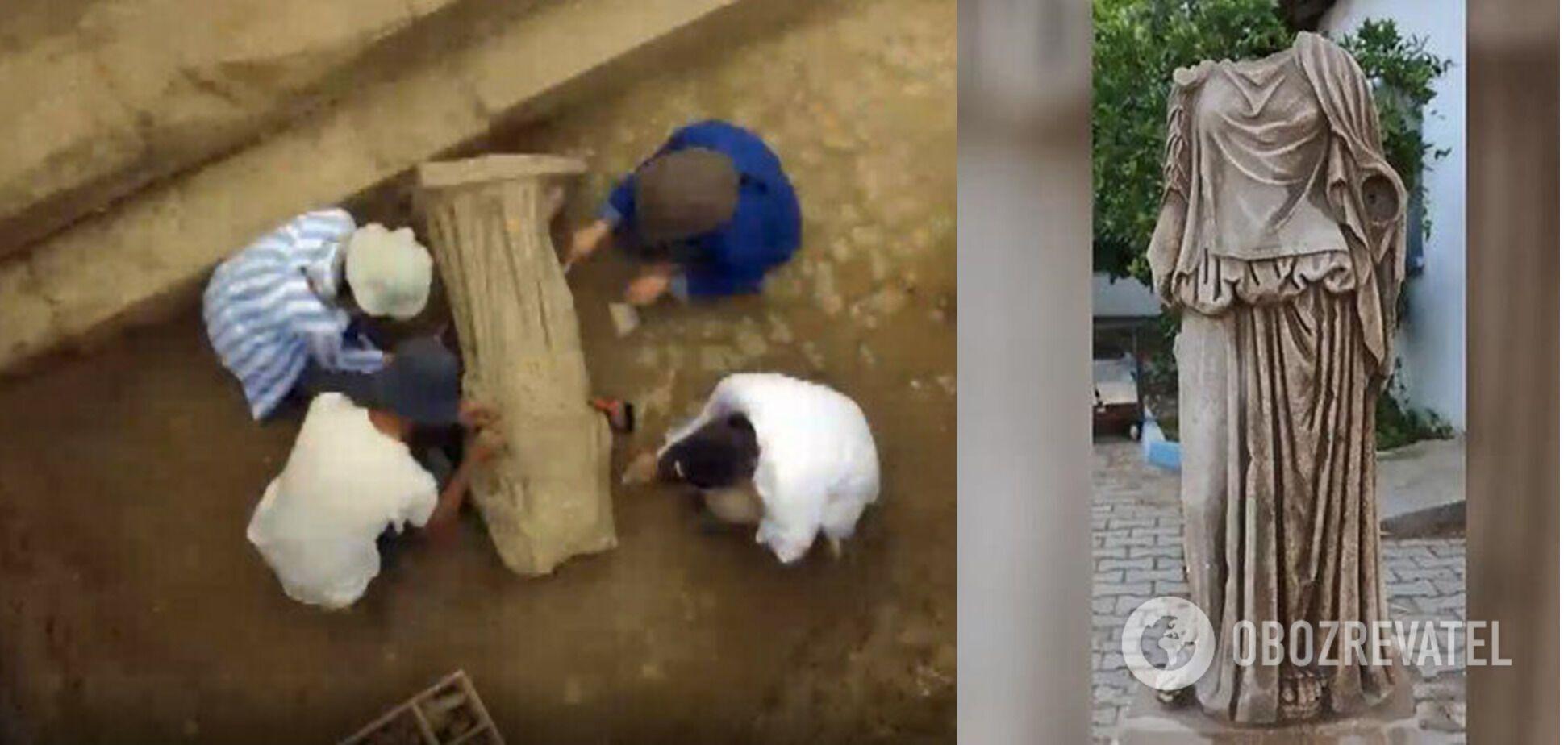 Статую женщины раскопали в древнем Метрополисе