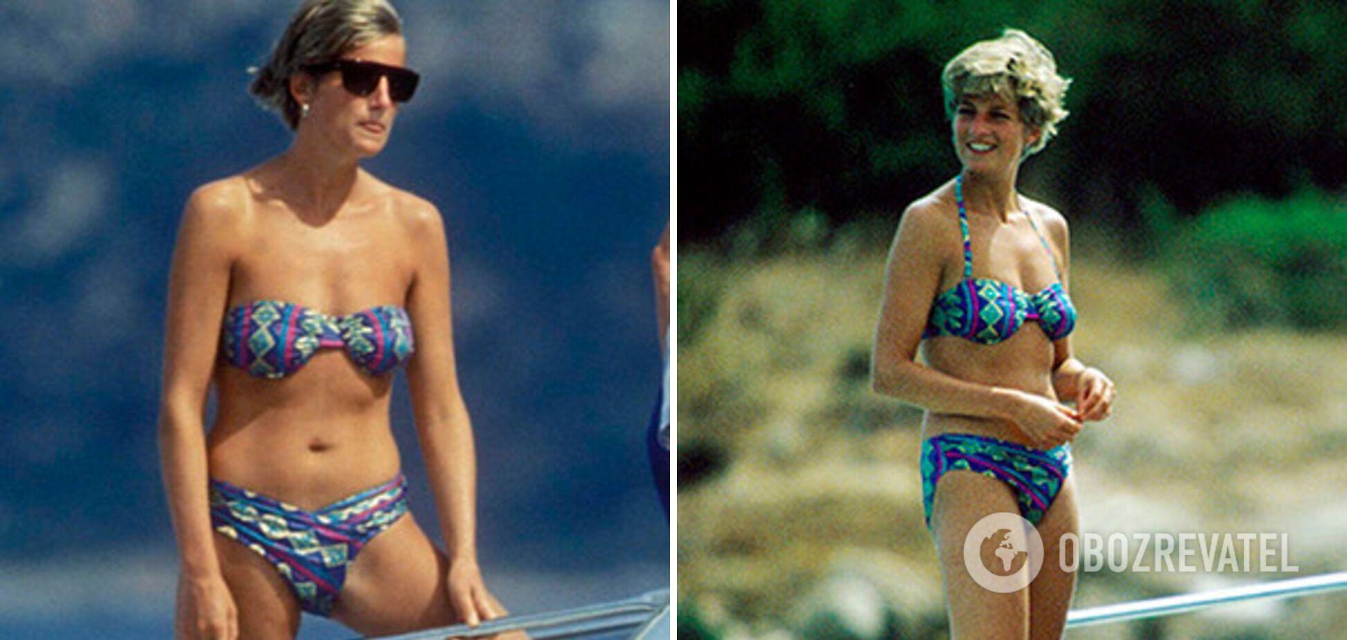 На острове Сардиния принцесса демонстрирует прекрасную спортивную фигуру.