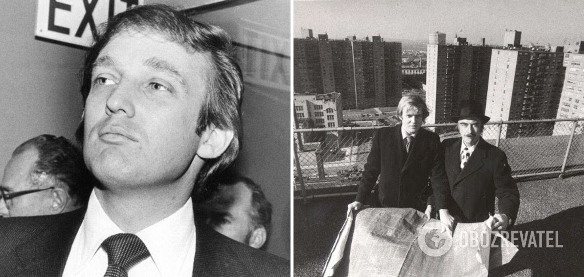 У 1973 році Дональд позує з батьком на будівництві.