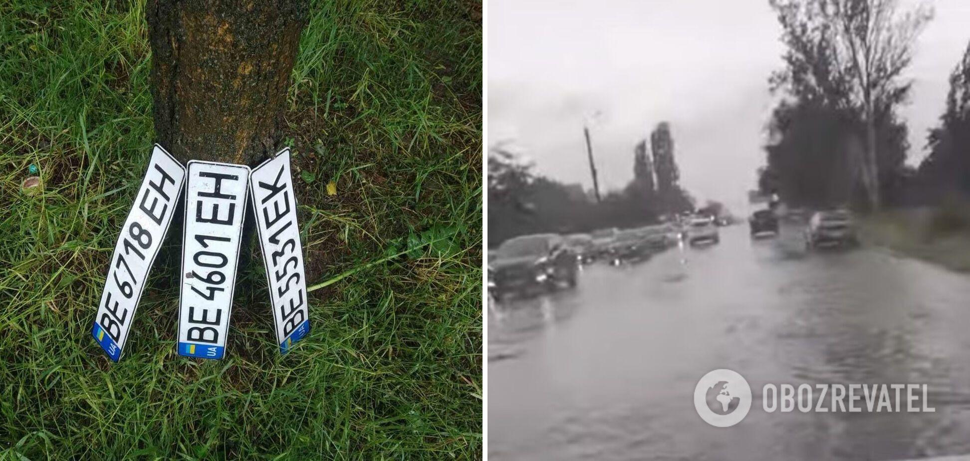 Водители теряли в воде номерные знаки