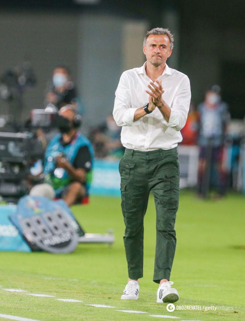 Тренер сборной Испании Луис Энрике.