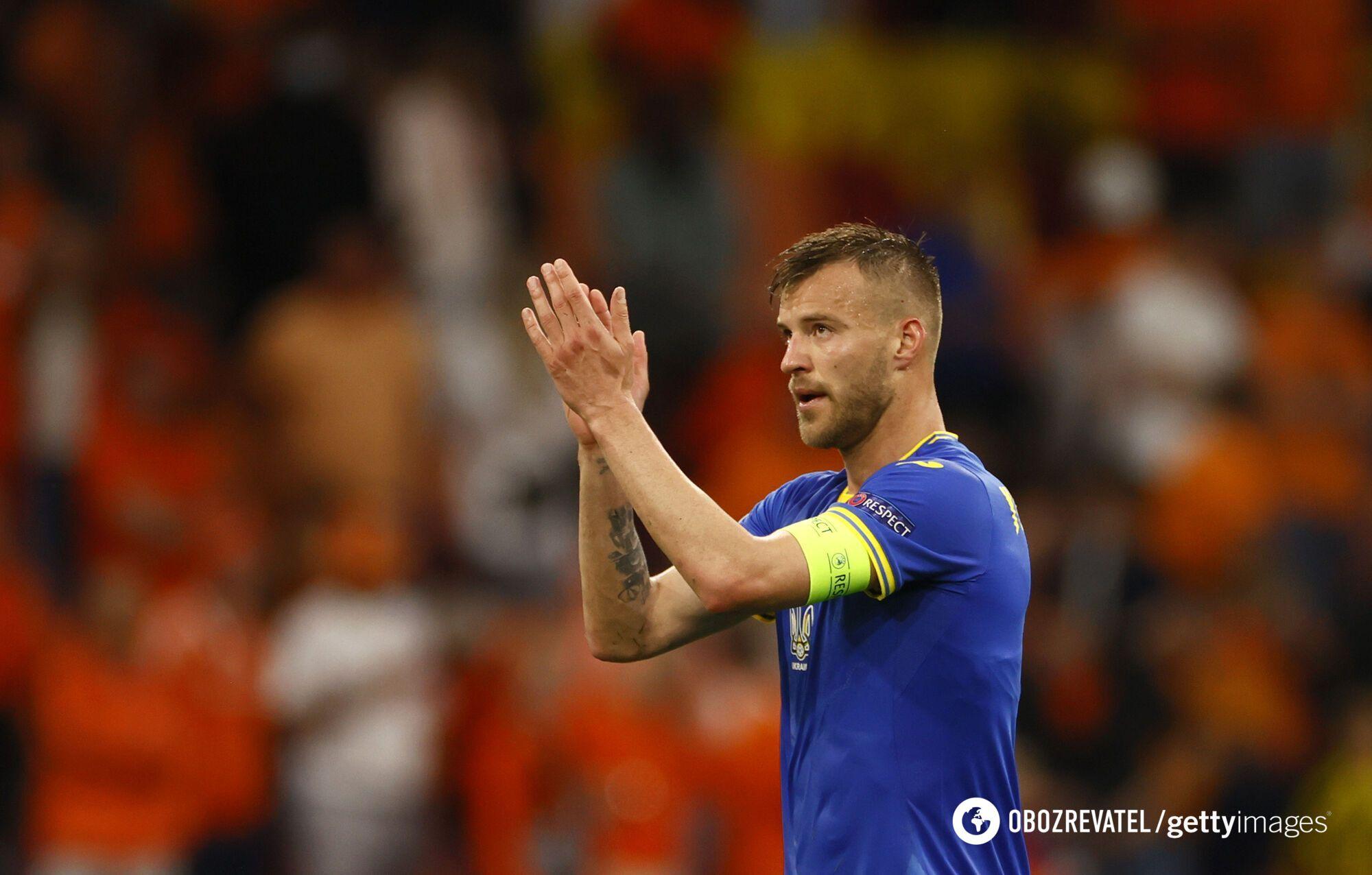 Андрей Ярмоленко – капитан сборной Украины.