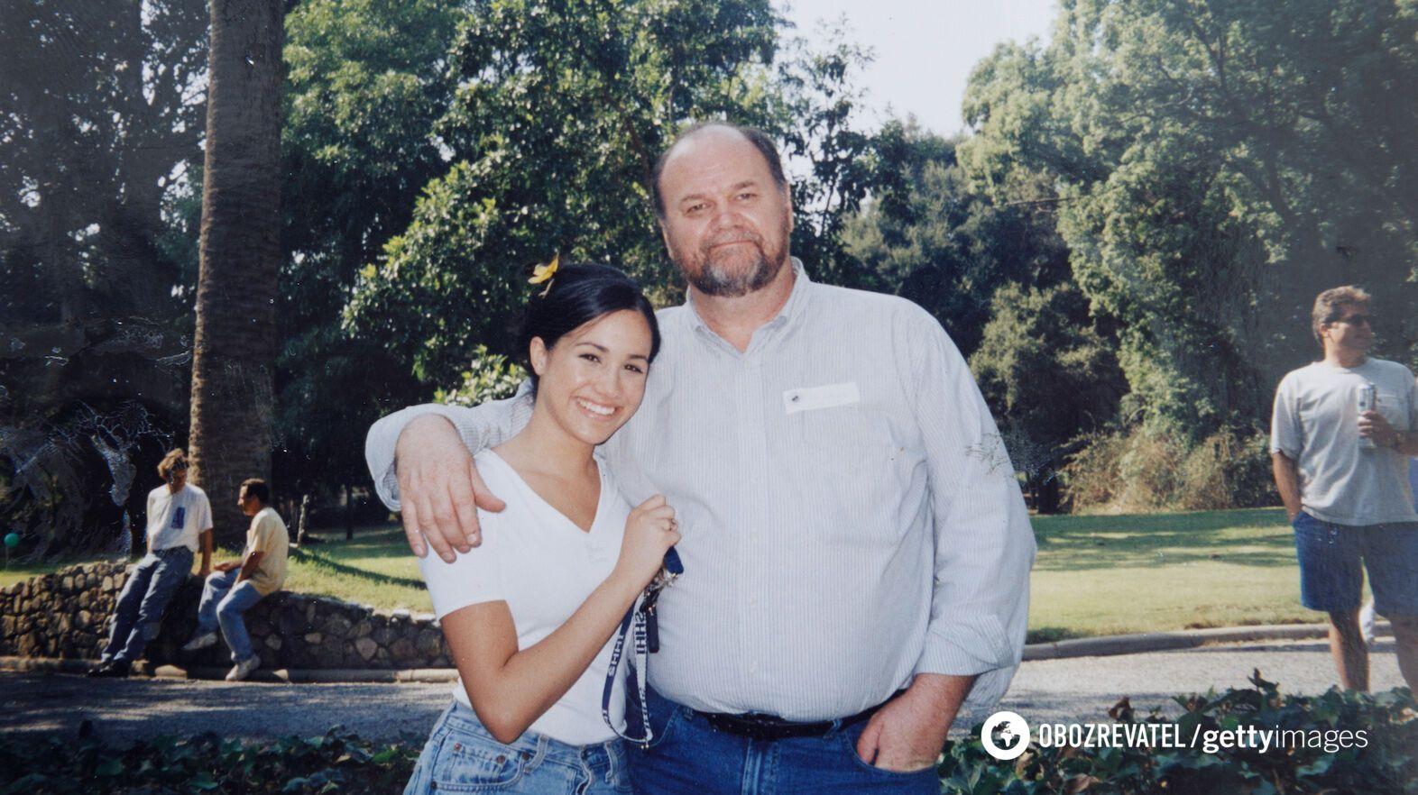 Меган Маркл з батьком Томасом