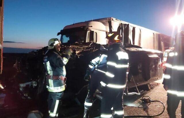 Микроавтобус с украинцами попал в аварию