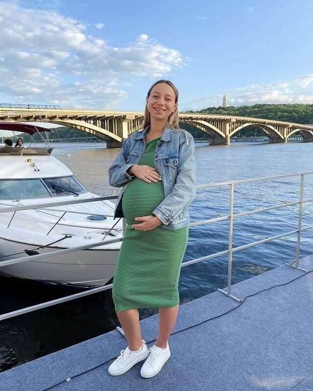 Екатерина Репяхова во время беременности