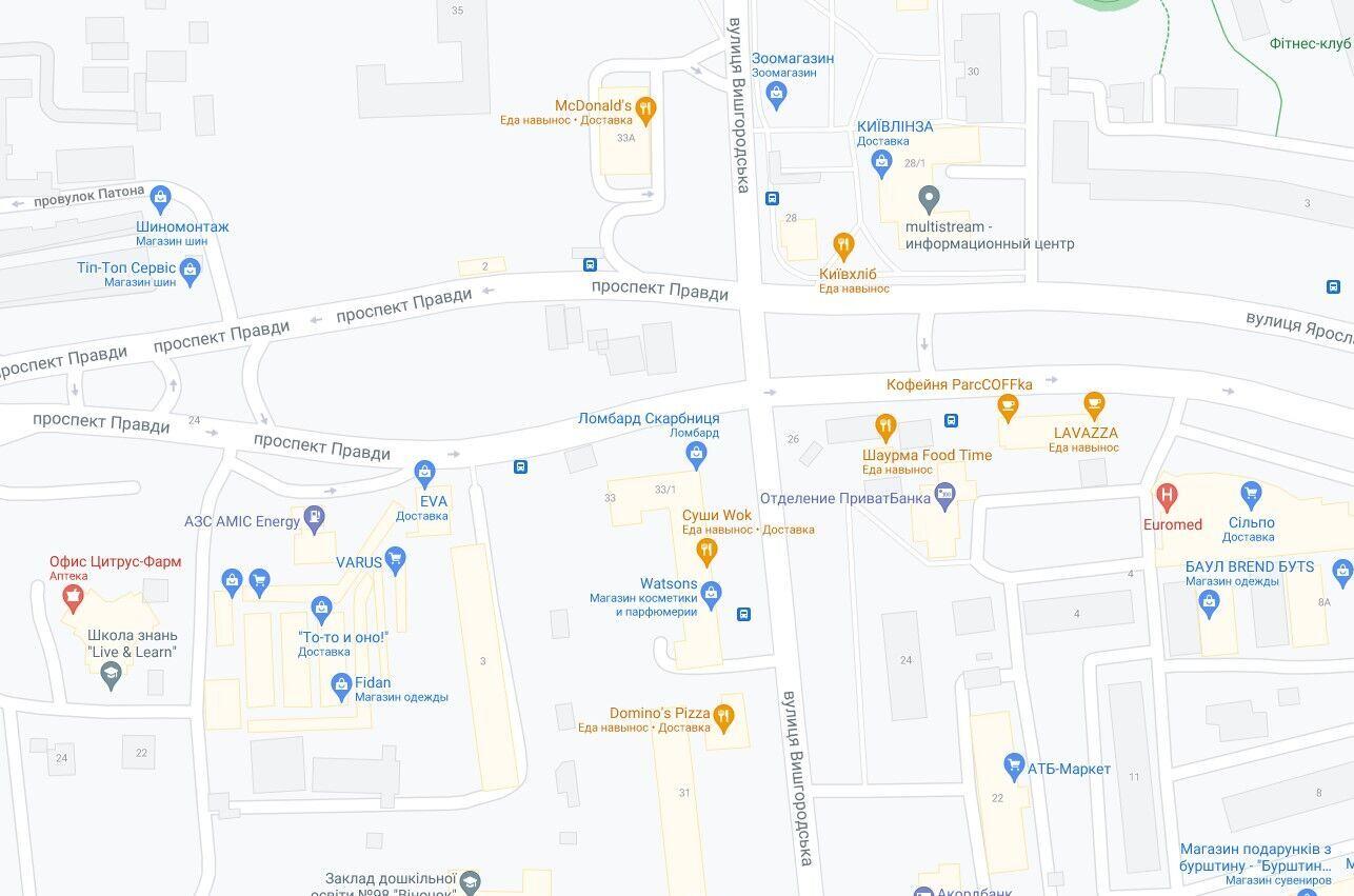 Аварія сталася на перетині проспекту Правди та вулиці Вишгородської.