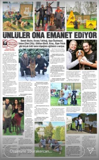 В турецкой прессе о нем писали как о звездном тренере животных известных личностей