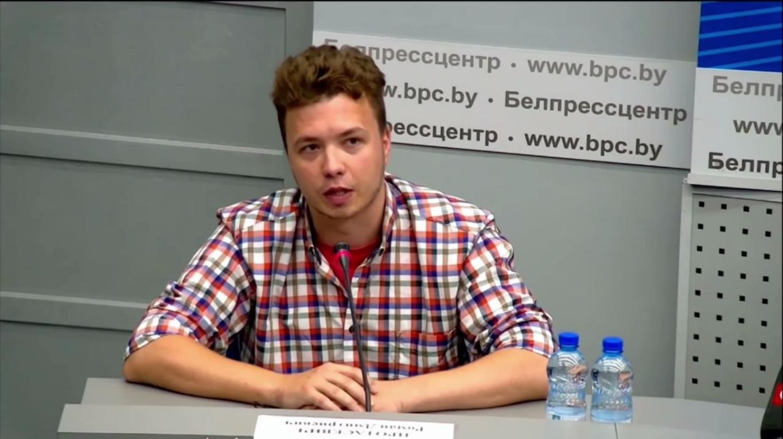 Роман Протасевич на брифінгові МЗС Білорусі