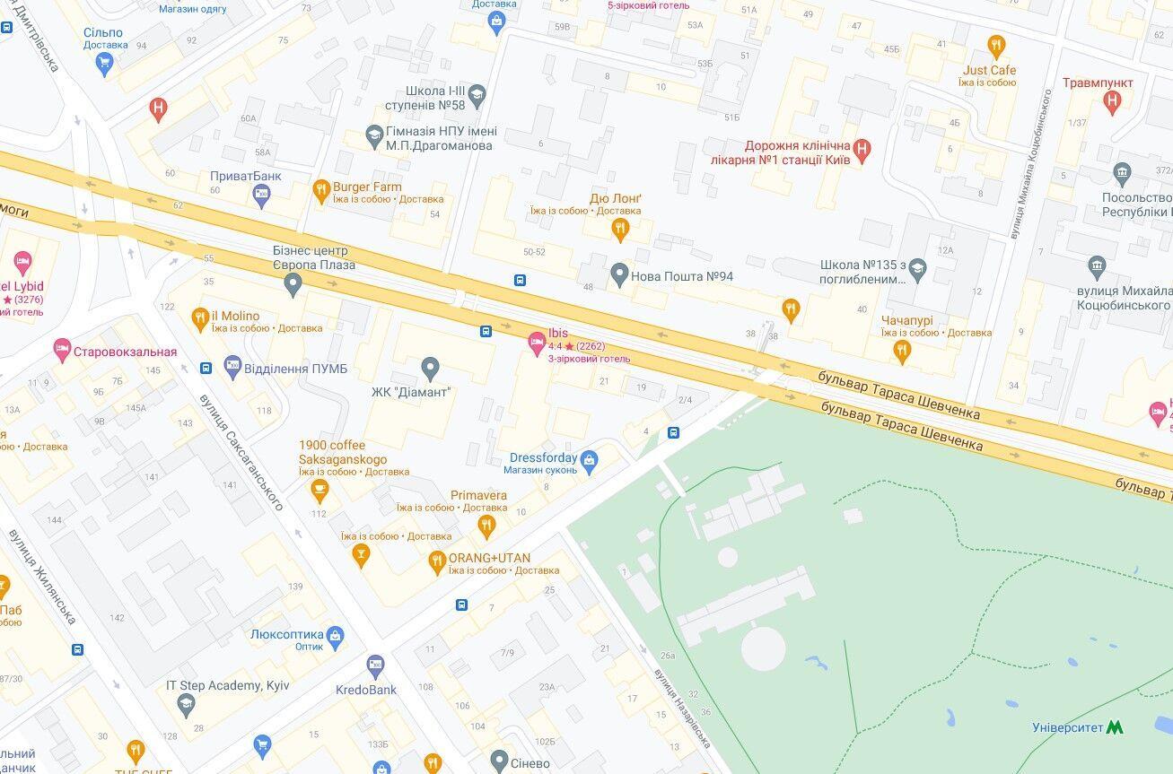 Інцидент зафіксували на бульварі Тараса Шевченка.