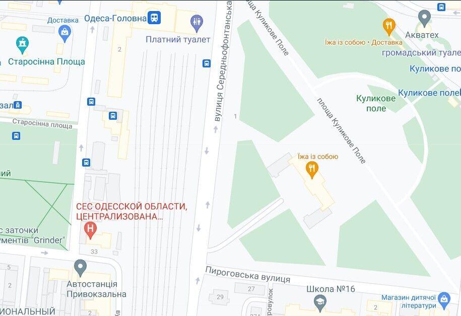ДТП трапилася на розі вулиць Середньофонтанської та Пироговської