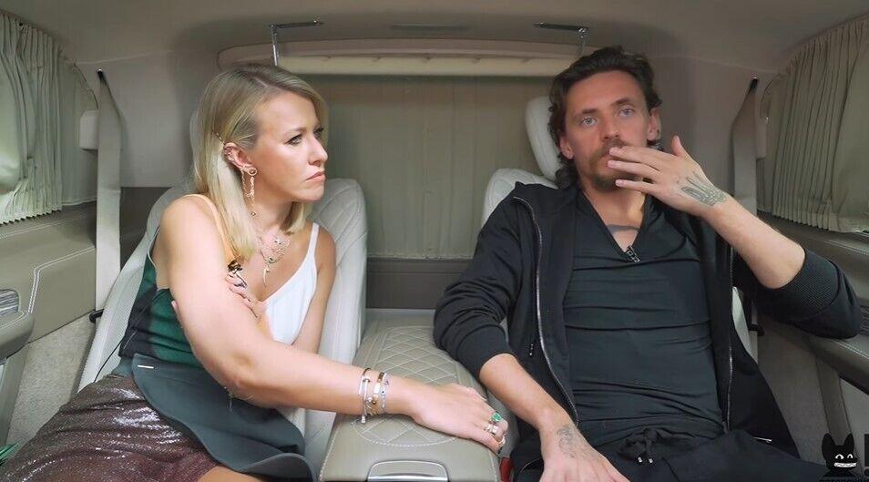Сергей Полунин с Ксенией Собчак.