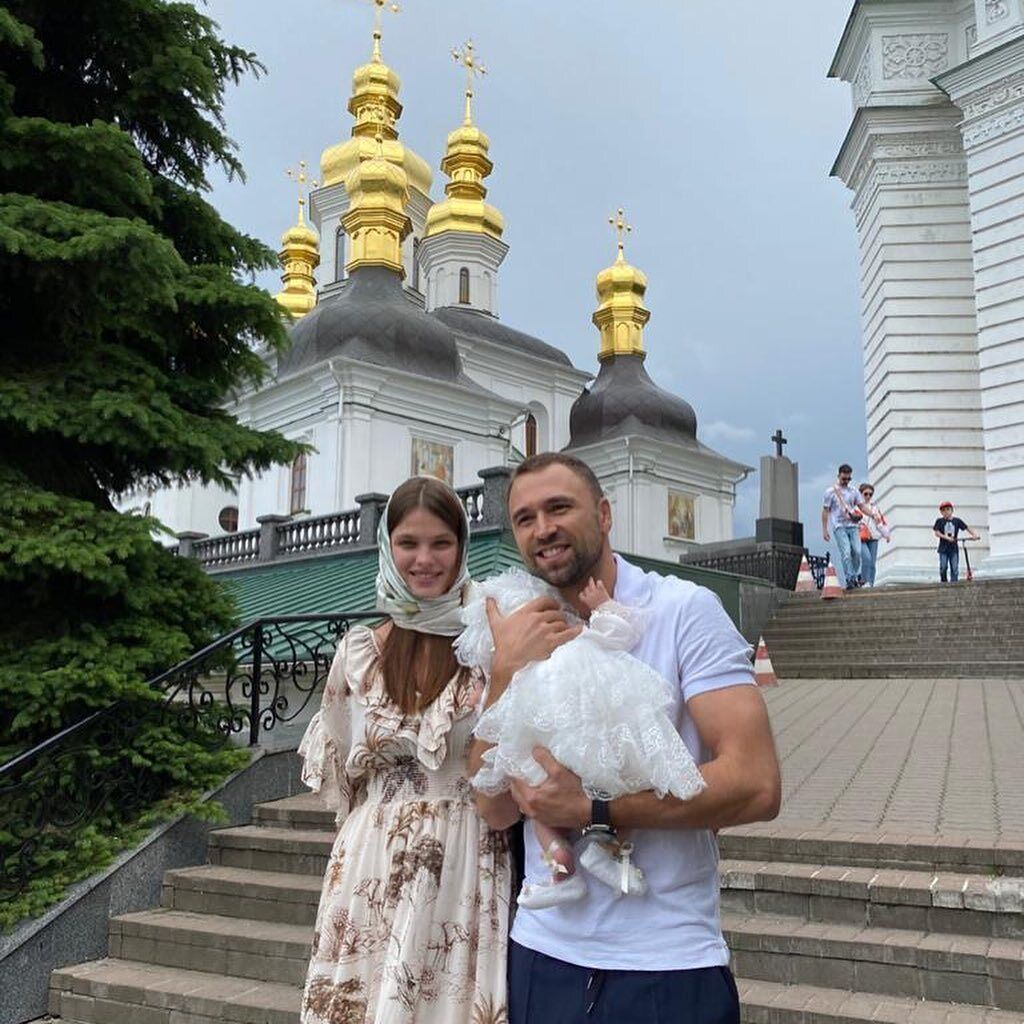 Макс Михайлюк и Даша Хлыстун окрестили дочку