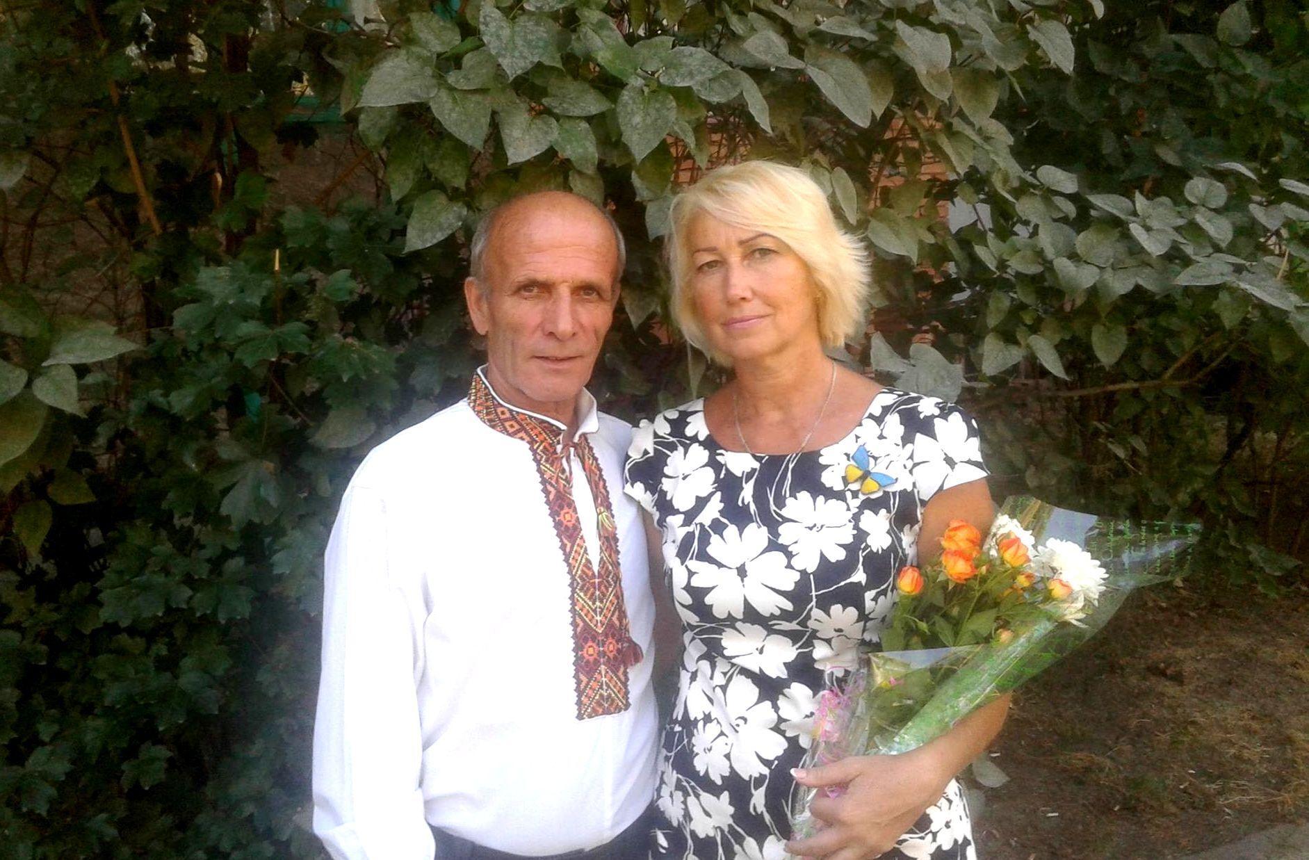 Іван Маслиган зі своєю половинкою.