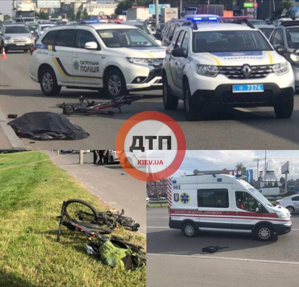 Велосипедиста под колеса толкнул прохожий.