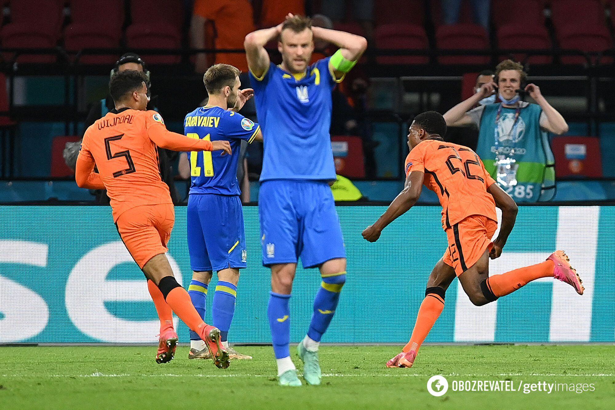 Андрій Ярмоленко (по центру) після вирішального гол в матчі