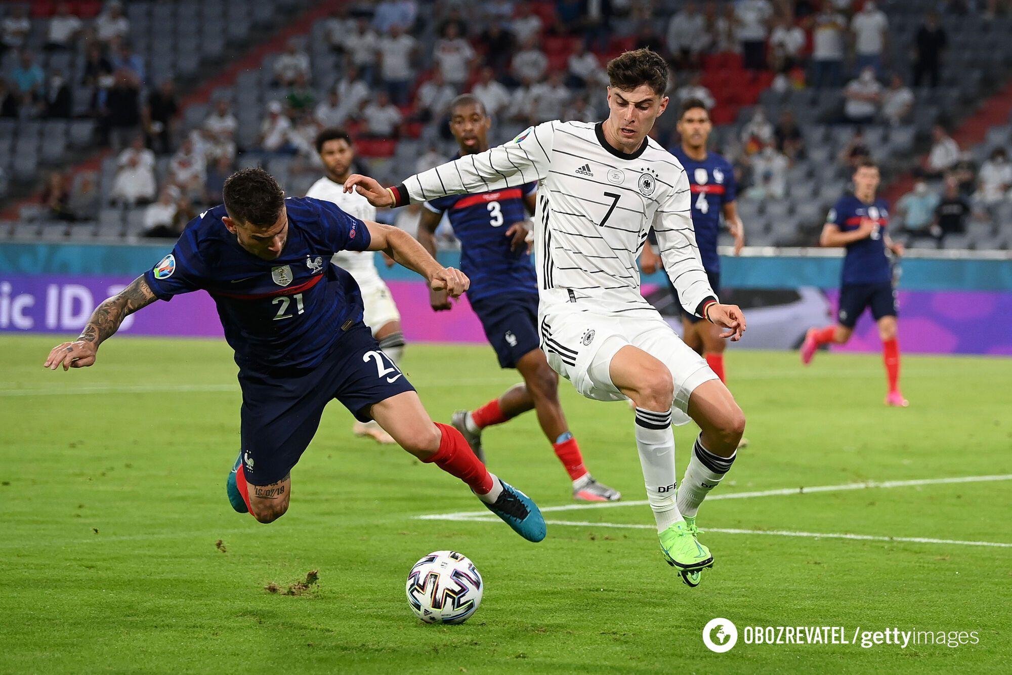 Франция минимально победила Германию.