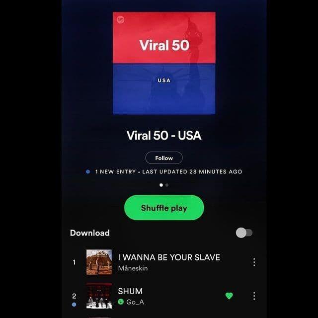 Пісня українського гурту Gо_A потрапила в ТОП-50 популярних треків у США