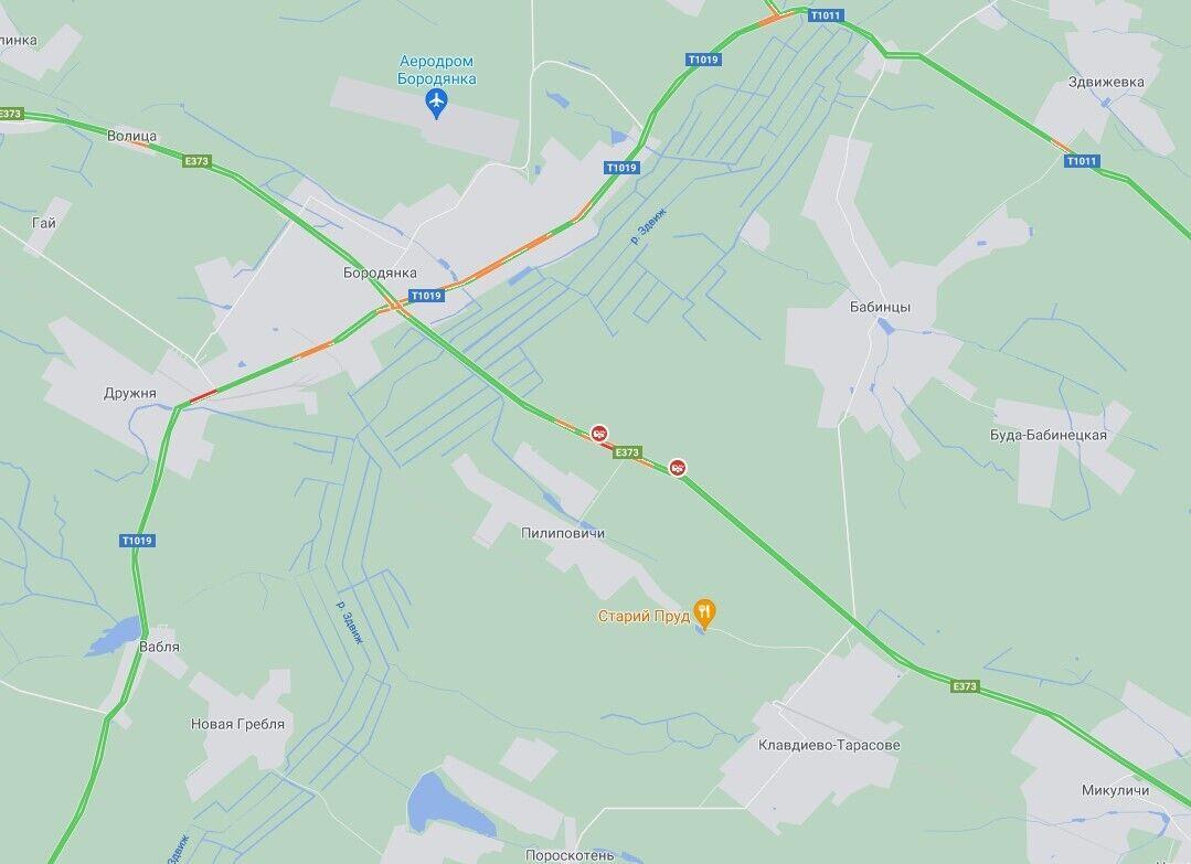 Рух транспорту на автодорозі М-07 Київ – Ковель було обмежено.