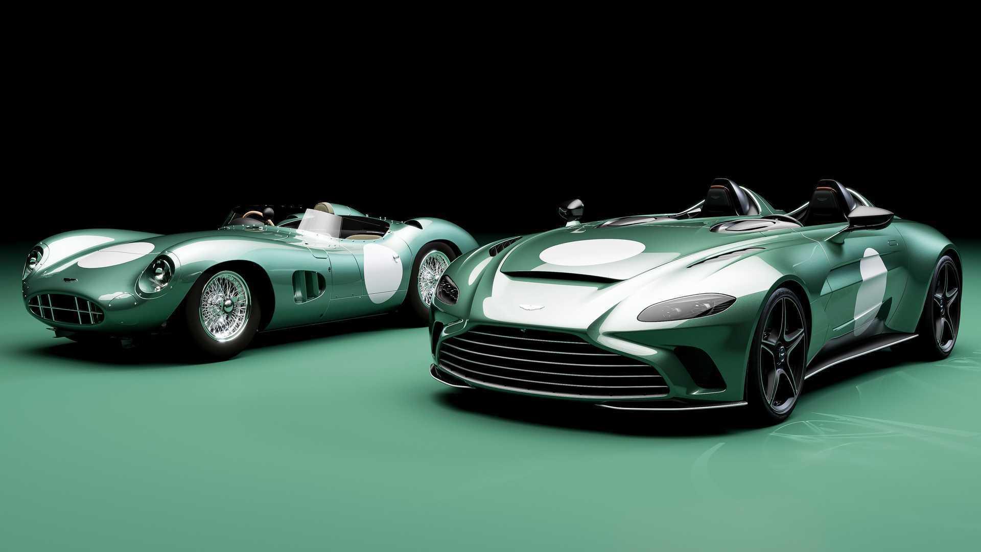Aston Martin V12 Speedster DBR1 Spec без лобового скла