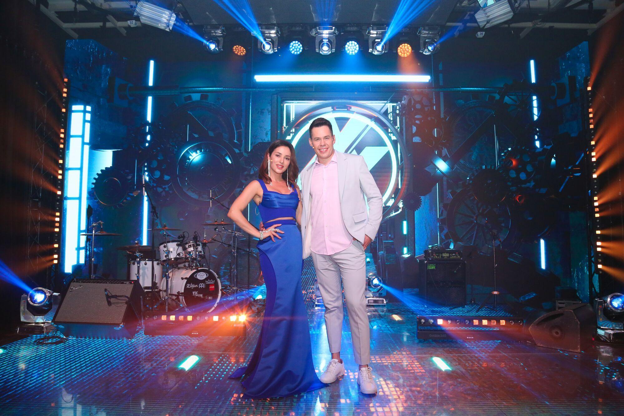 Ведущие шоу молодой украинской музыки Злата Огневич и Денис Жупник