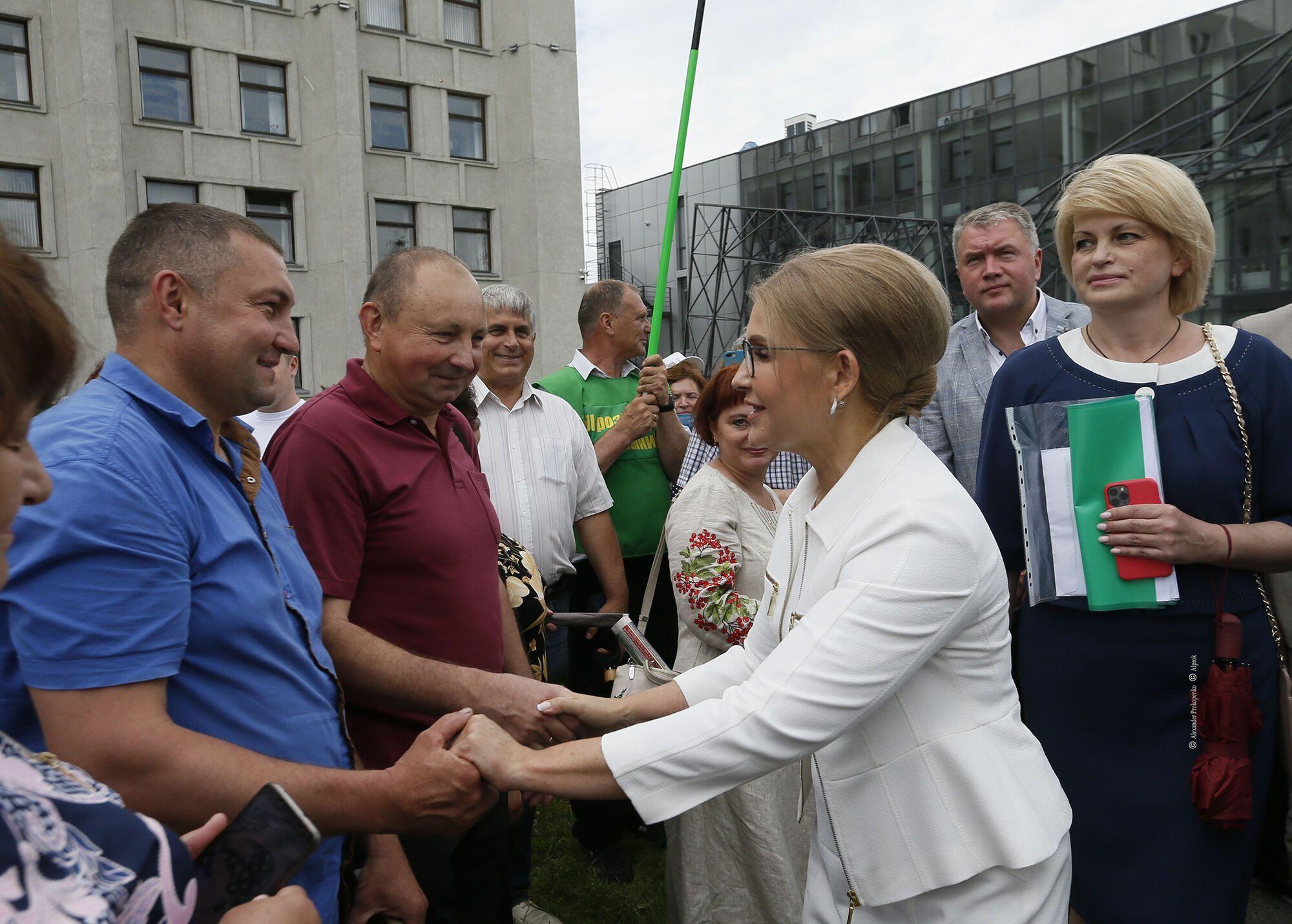 """Тимошенко повідомила, що """"Батьківщина"""" з Асоціацією фермерів утворили великий антирейдерський штаб"""