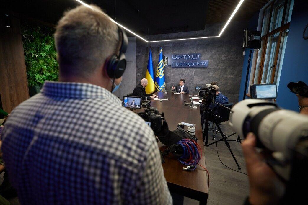 Зеленский пообщался с американскими журналистами