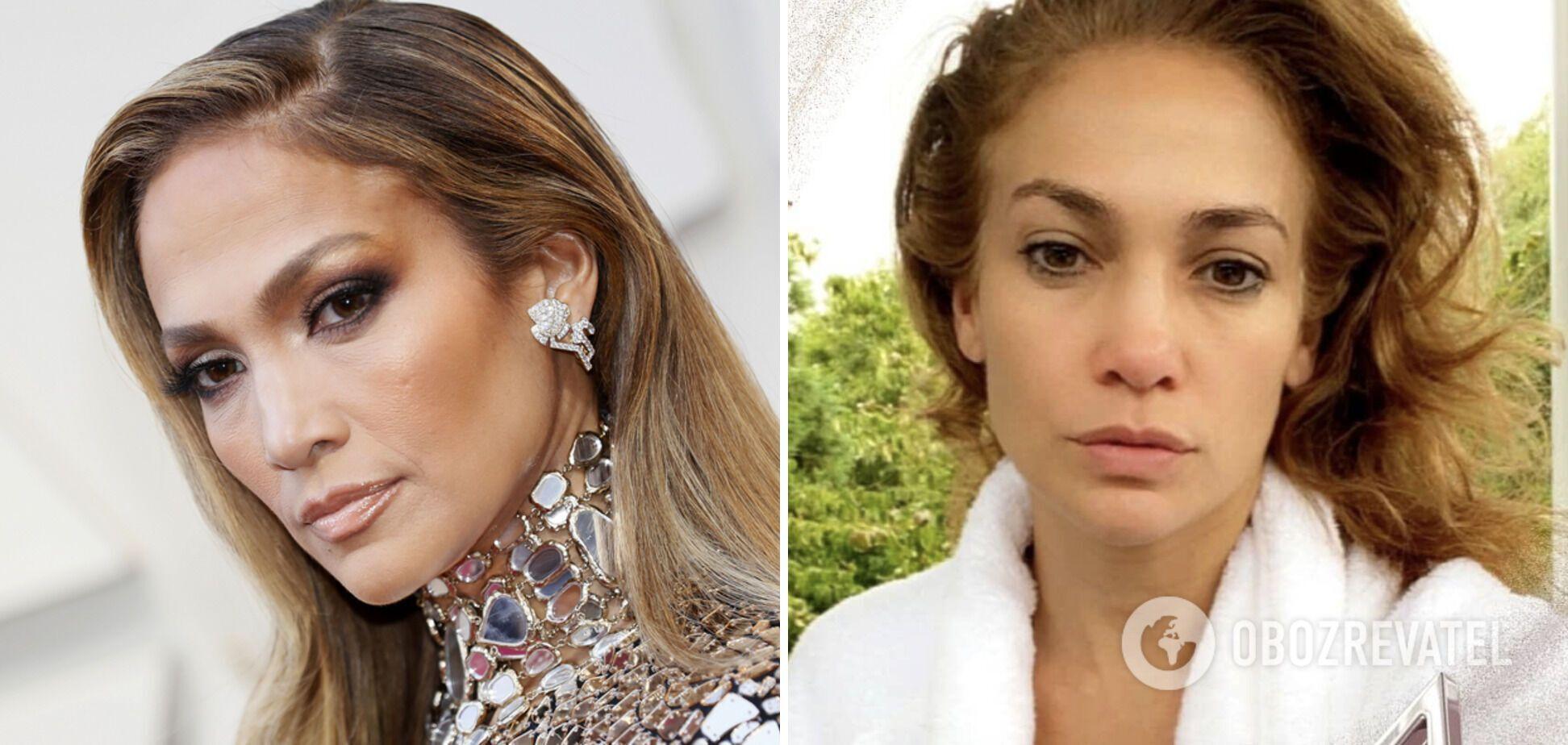 Дженнифер Лопес любит делать яркий макияж.