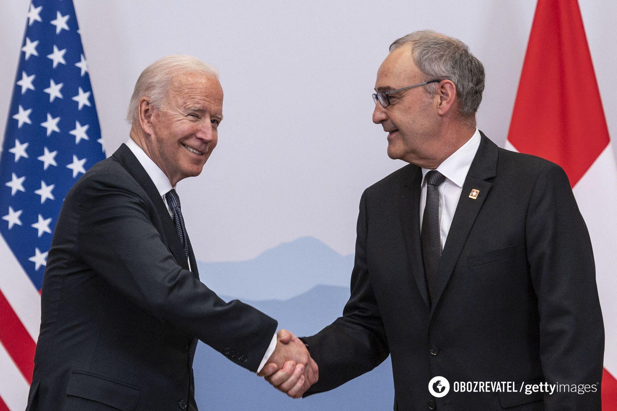 Джо Байден та Гі Пармелен зустрілися перед самітом