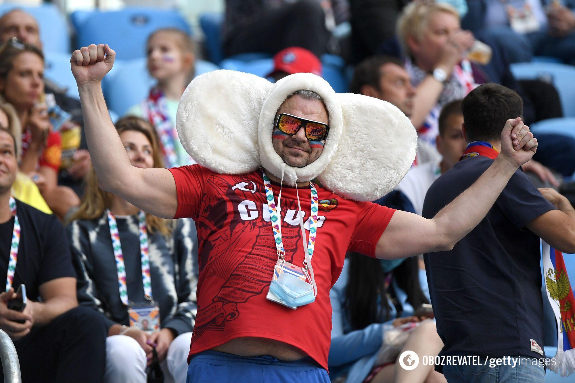 Российский болельщик на Евро-2020