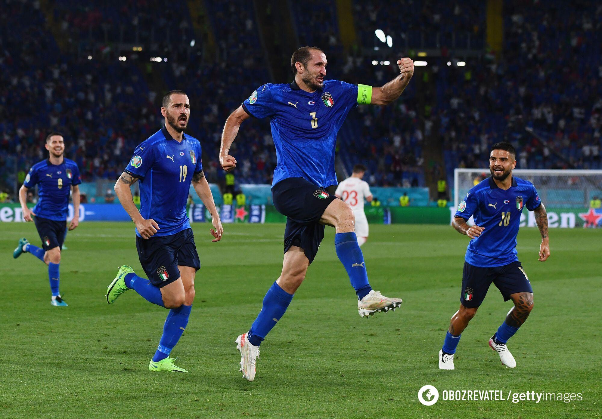 Збірна Італії виграла групу А, не пропустивши жодного гола.