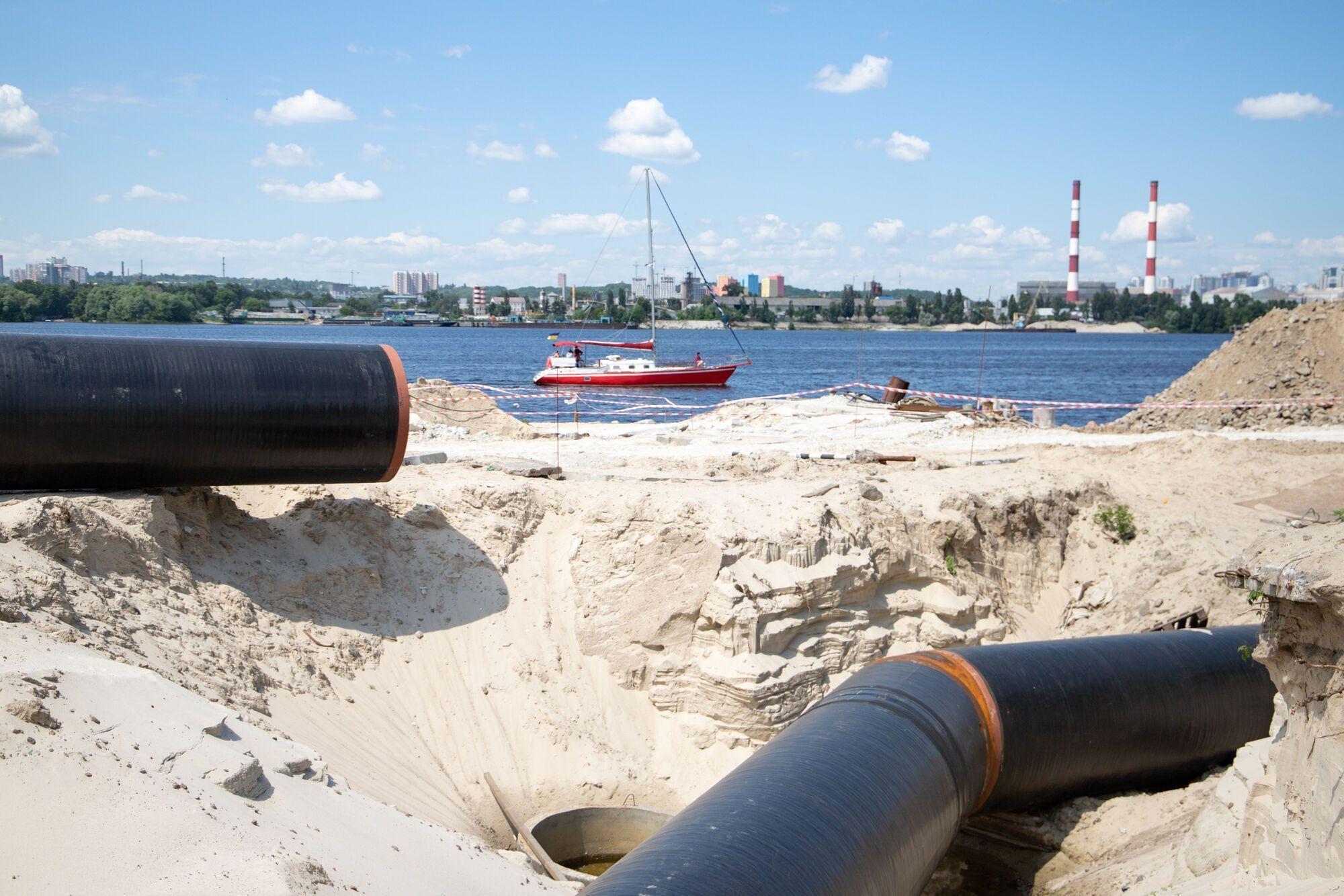 Дюкерні переходи через річку Дніпро реконструюють