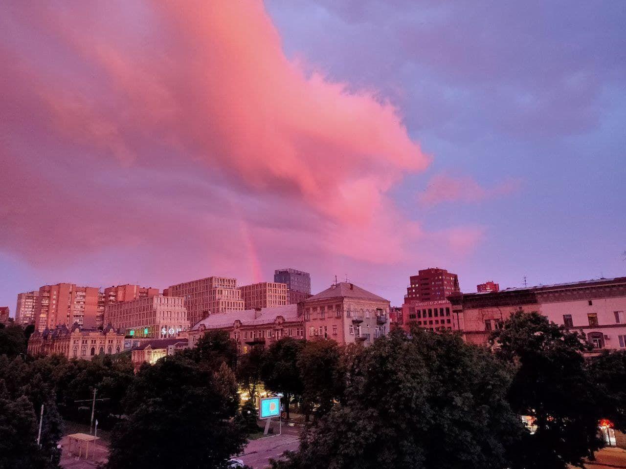 Небесне явище після дощу
