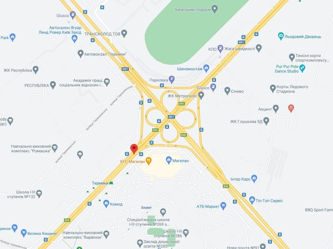 Авария произошла в Голосеевском районе.