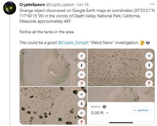 Користувач заявив, що виявив на супутникових знімках НЛО, що розбився