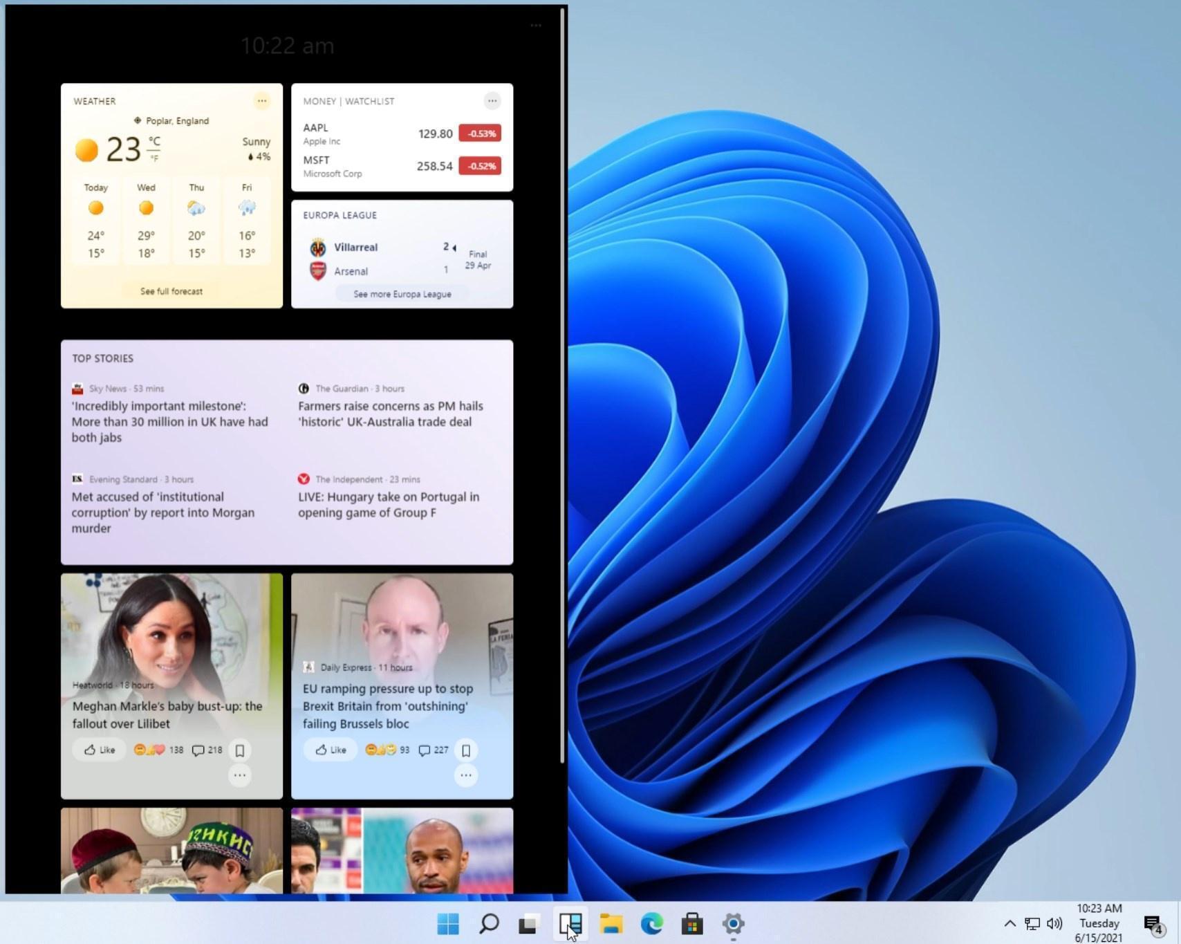 Microsoft возвращает виджеты Windows